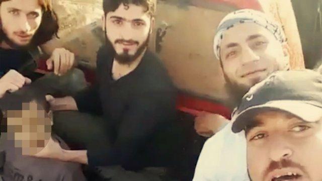 叙利亚反对派斩首11岁男孩