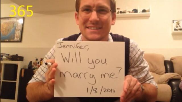 为了求婚,他这样准备了整整一年