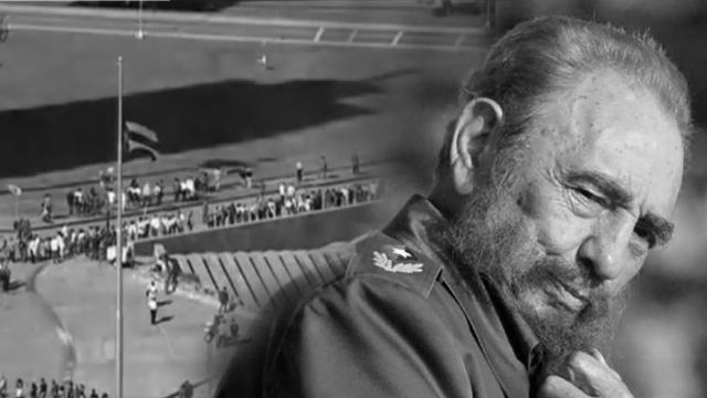 直击古巴:革命广场集体悼卡斯特罗