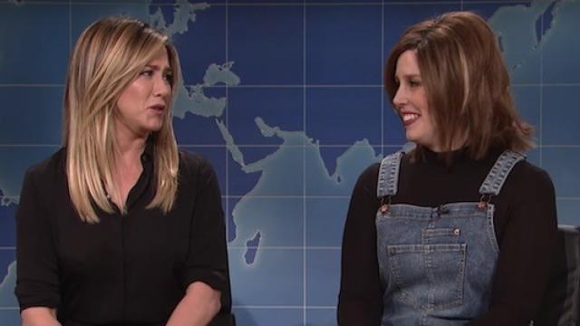 """安妮斯顿上SNL,再现""""瑞秋"""""""
