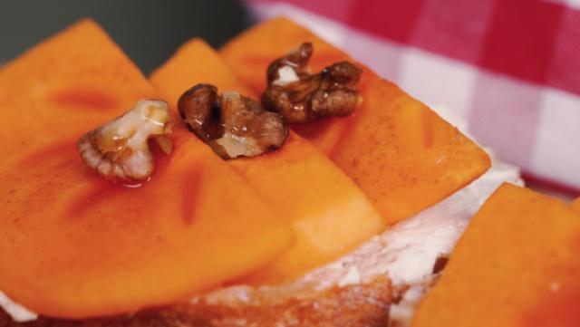 脆柿核桃三明治