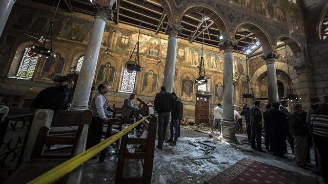 埃及一教堂弥撒日发生恐袭 25死