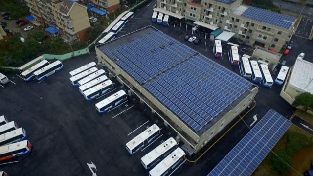上海首个太阳能公交场站正式投运