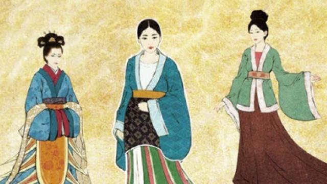 古代服装绘画素材