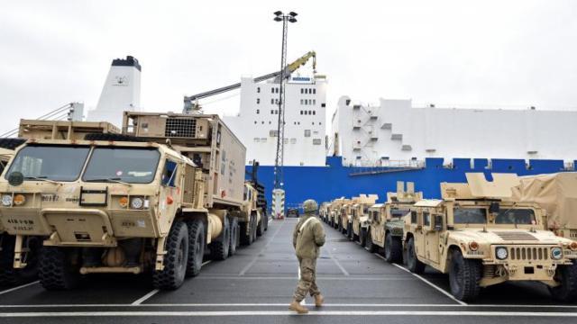美国在中东欧展开大规模军力部署