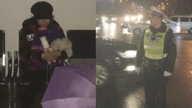 愧疚的交警:女儿独坐4小时等他下班