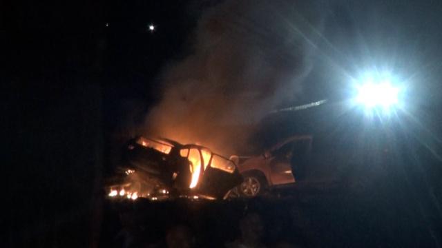 逆行高速近40里,他撞车起火坠下坡