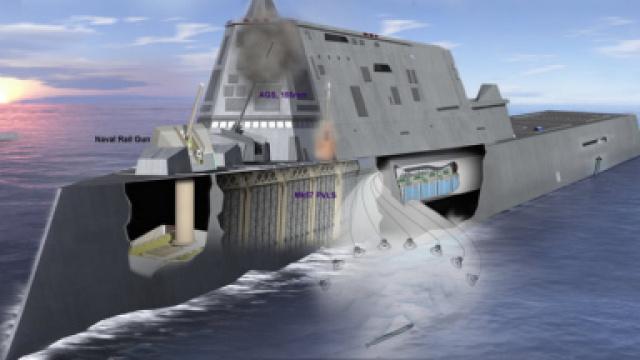国际最大的驱逐舰,号称是海上城堡
