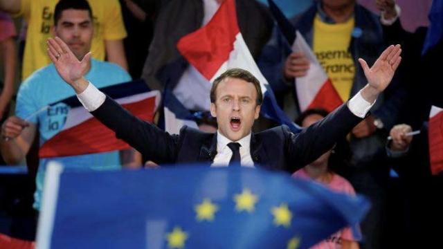 马克龙成为法国近60年最年轻总统