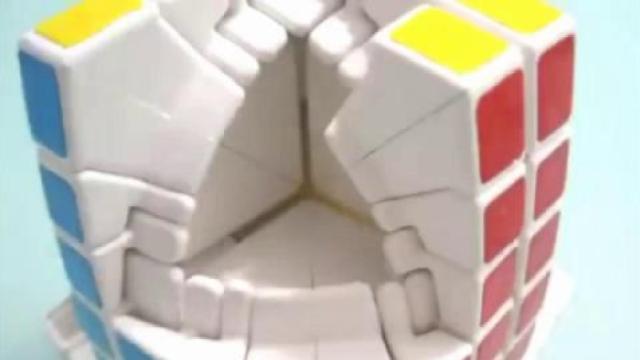 七阶魔方从散落到组装的全过程