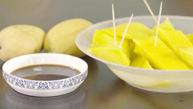 芒果蘸酱油,竟然这么好吃!