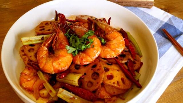 这盘麻辣干锅虾,10斤小龙虾都不换