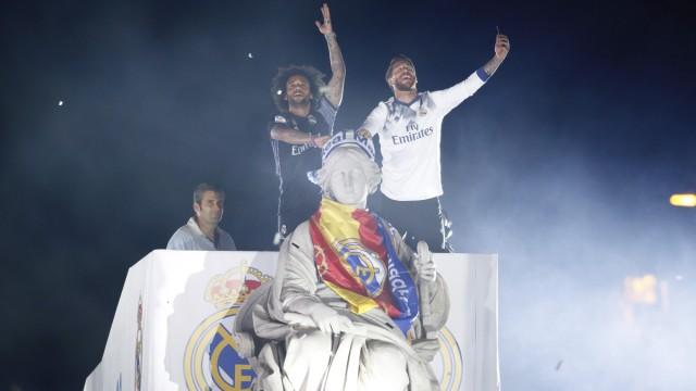 皇马夺冠,马德里这一夜狂欢