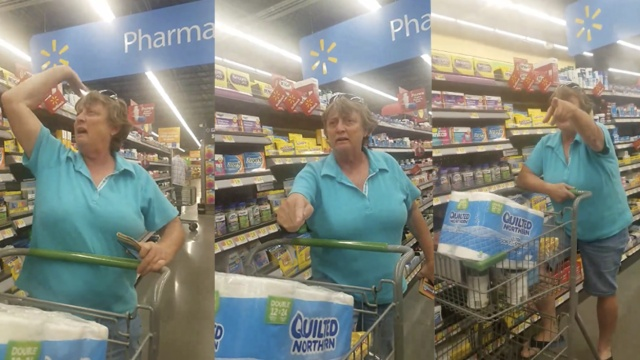 美国白人在超市辱骂墨西哥人和黑人