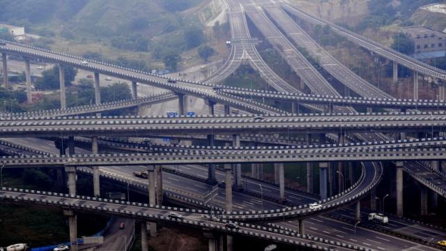 重庆最复杂立交桥完工,导航都看哭
