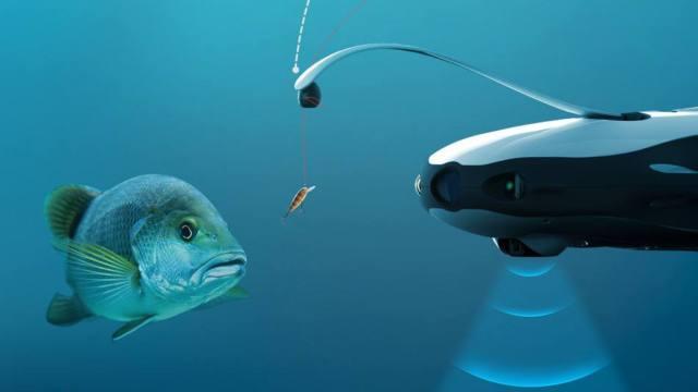 水下无人机钓鱼:愿者上钩