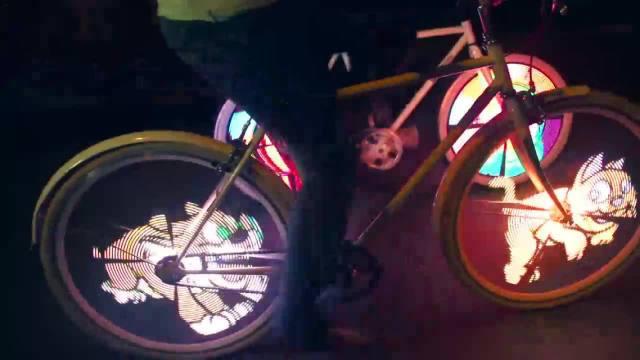 发光自行车,酷到没朋友
