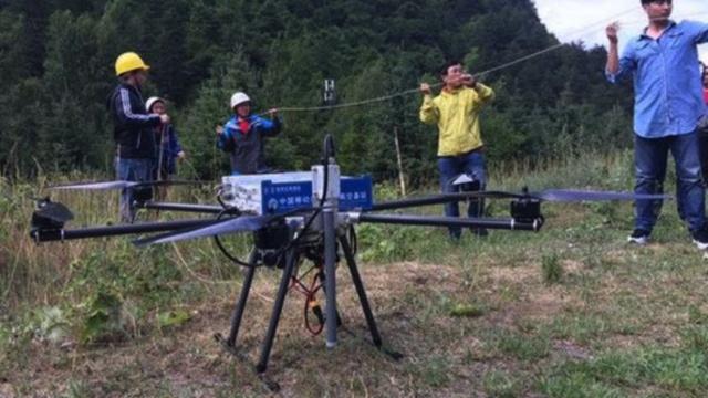 救灾黑科技:无人机通讯基站起飞