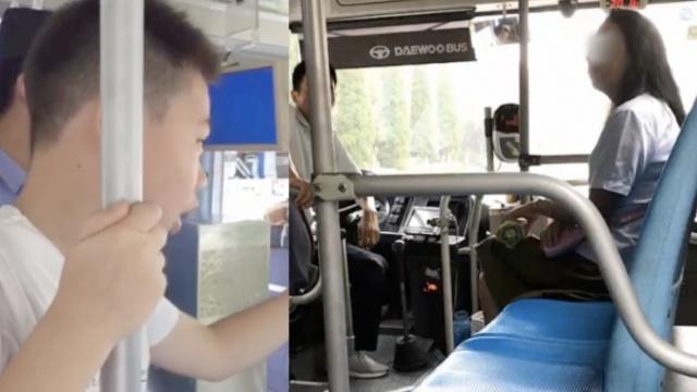 女子坐公交不给钱还诡辩,男童怒怼