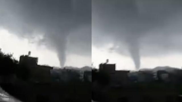 罕见!广西北流现龙卷风,5人受伤