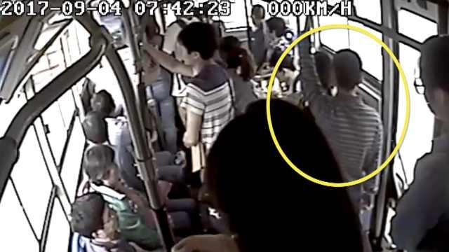 猖狂!男子公交车上连续猥亵4女子