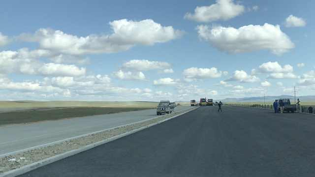 探访:蒙古第一条中国标准高速公路
