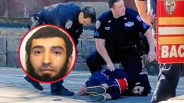 纽约恐袭嫌犯遭逮捕:腹部中枪送医