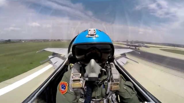 歼15战机撞鸟  飞行员如何处理