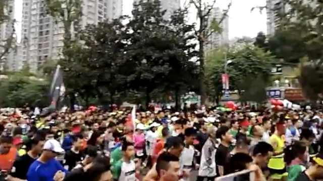 重庆国际半程马拉松开跑,超多人!