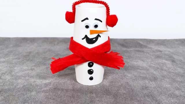 冰雪奇缘同款,纸杯秒变圣诞雪宝