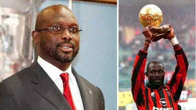 前世界足球先生,当选利比里亚总统