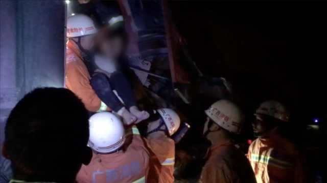 挂车追尾货车夫妻2人被困,夫死妻伤