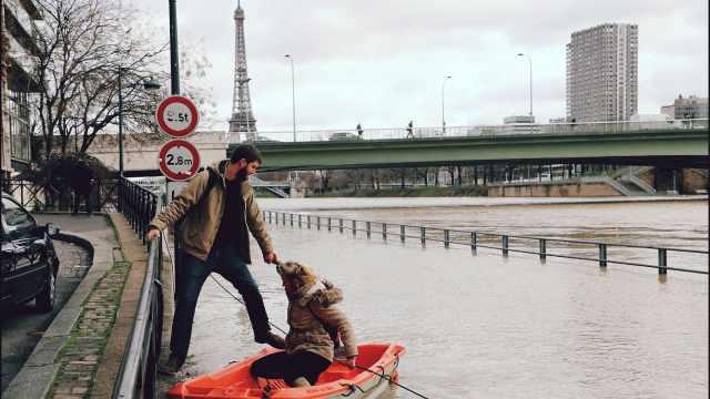 直播:洪水来袭,巴黎秒变威尼斯!