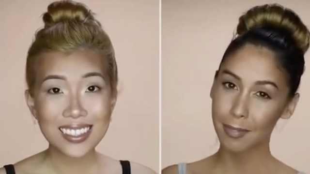 针对不同脸型修容,颜值提升好几倍
