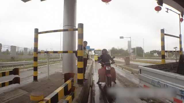 真的?摩托车误上高速找不到出口