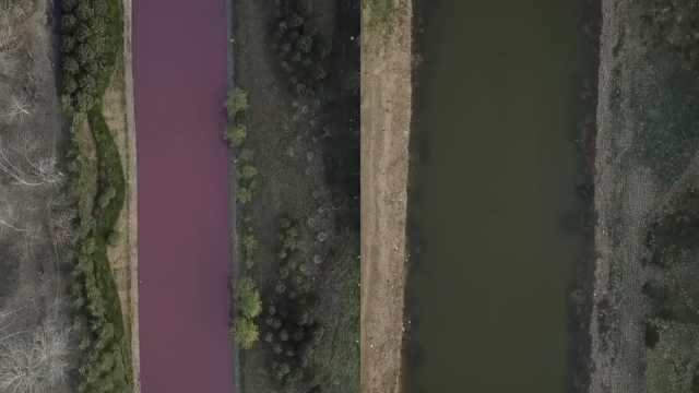 安徽一河道河水变红,村民:排污所致