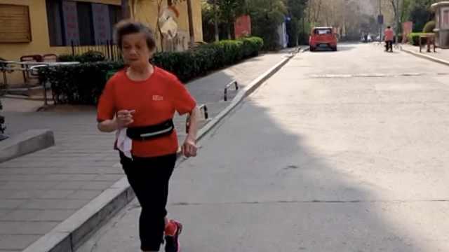 84岁奶奶跑马11年,曾在雅典夺冠