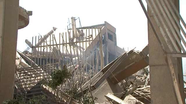 空袭现场:大马士革科研中心成废墟