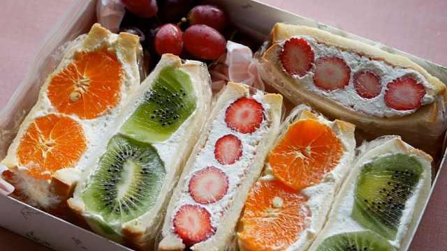 高颜值的水果芝士三明治,甜品便当
