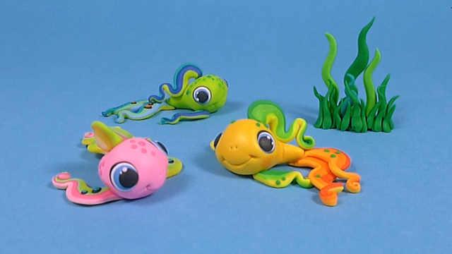 彩色粘土DIY可爱的小黄鱼