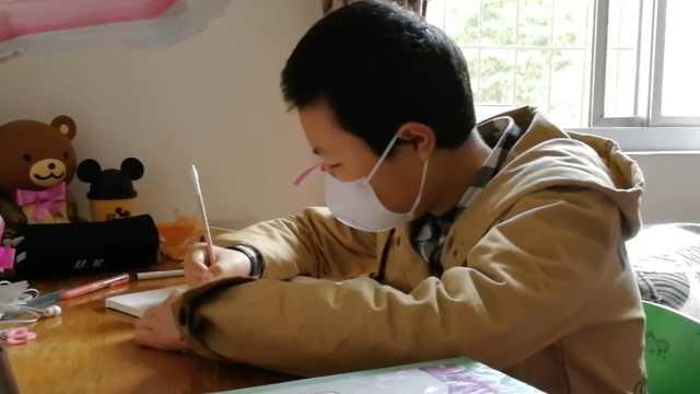女孩患白血病休学仍自学:想考大学