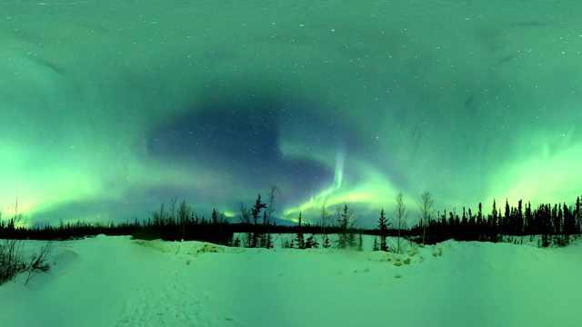 阿拉斯加全景魔幻延时:极光满天