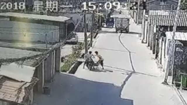 俩小伙街边偷鸽子,连笼子都不放过