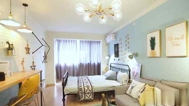 10天改造35㎡公寓,美得像画一样