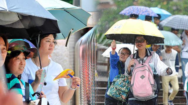 直播:高考首日,北方高温南方台风!