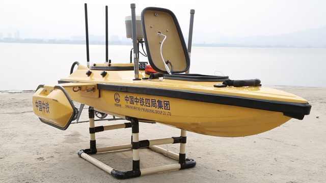 国际首次!无人船助力过江隧道施工