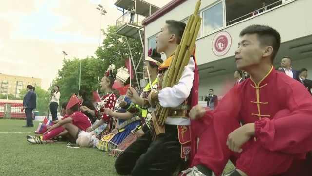 中国少年揭幕战护旗:最喜欢内马尔