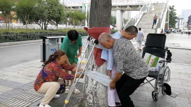 女子患脑梗,家属将她绑树上促康复