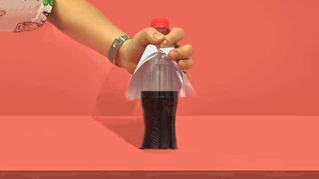 为什么一张白纸能把可乐消失?
