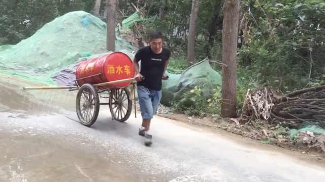 农民工研发洒水车,工友:高手在民间